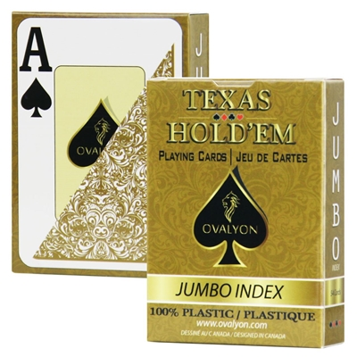 Single deck / Ovalyon / Poker size / Jumbo index / GOLD