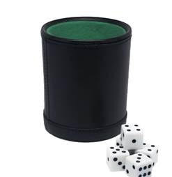 Dice Cup With 5 Dice